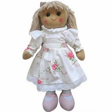 Large Vintage Rose Rag Doll